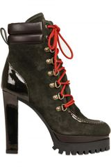 DSquared2 130mm Suede Laced Low Boots - Lyst