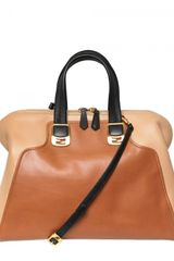 Fendi Chameleon Leather Top Handle - Lyst
