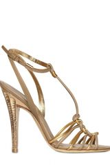 Ferragamo 110mm Benoit Metallic Leather Sandals - Lyst