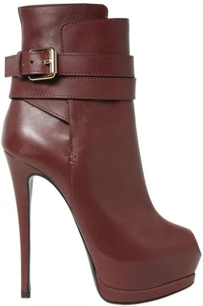 Giuseppe Zanotti 150mm Nappa Ankle Strap Low Boots in Brown (cognac) - Lyst