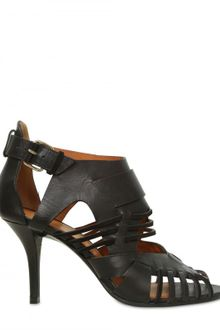 Givenchy 80mm Leather & Suede Cage Sandals - Lyst
