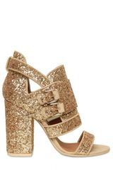 Givenchy 100mm Glitter Buckled Sandals