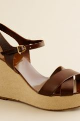 J.Crew Lila Leather Platform Wedges - Lyst