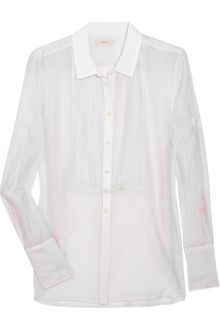 J.Crew Cotton and Silk-blend Tuxedo Shirt - Lyst