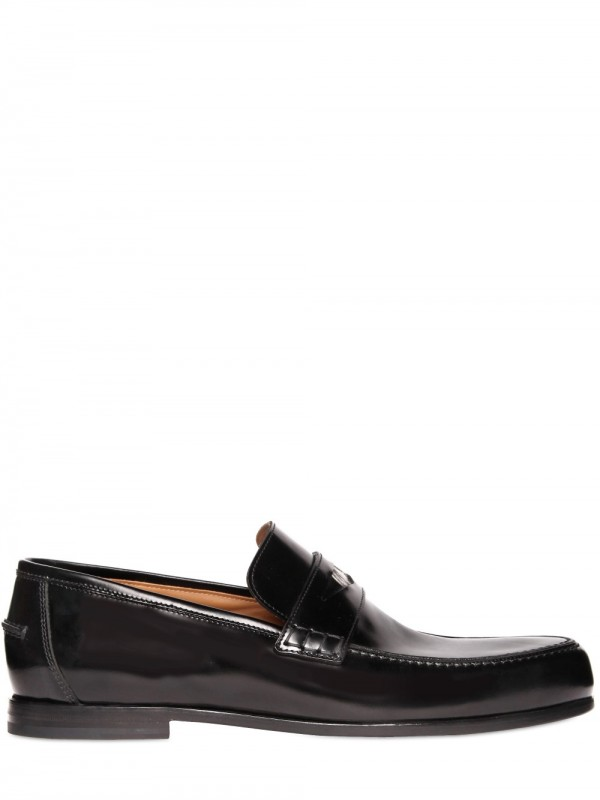 cb4a89a6227 Lyst - Jimmy Choo Smooth Shiny Calfskin Penny Loafers in Black for Men