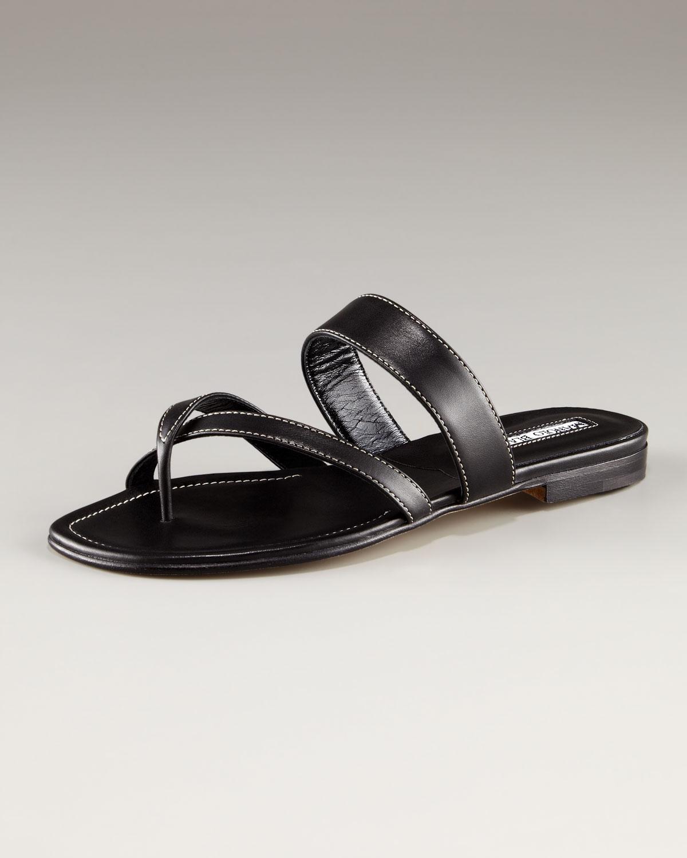 Manolo Blahnik Susa Leather Sandals AzIAZSogC