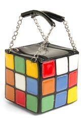Modcloth The Gleaming Cube Handbag in Multicolor (black) - Lyst