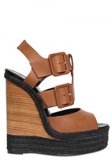 Pierre Hardy 150mm Leather Buckle Sandal Wedges - Lyst