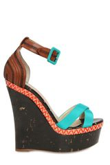 Rupert Sanderson 140mm Grosgrain Cross Over Wooden Wedges - Lyst