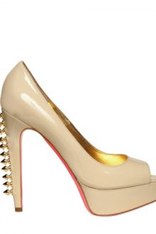 Ruthie Davis® 130mm Patent Spiked Peep Toe Pumps - Lyst