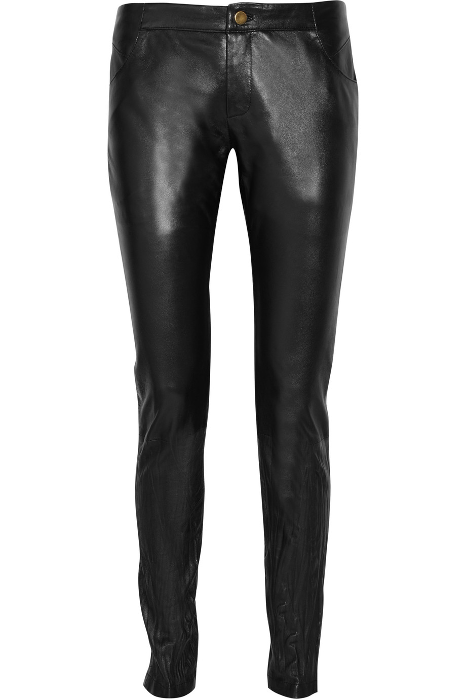 Miss Selfridge faux leather skinny trousers in black. £ Goosecraft leather trousers. £ Mamalicious over the bump faux leather leggings. £ ASOS DESIGN high waisted wet look leggings. £ River Island Petite Faux Leather High Rise Leggings. £