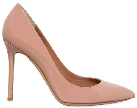 Valentino 100mm Patent Pointy Pumps in Pink (rose) - Lyst