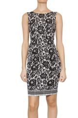 Dolce & Gabbana Printed lace silk charmeuse dress - Lyst