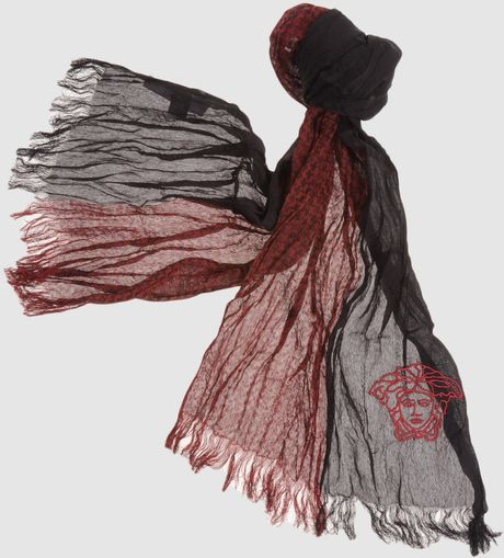 Versace Oblong Scarves in Red for Men - Lyst