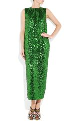 By Malene Birger Amukaji Sequined-Jersey Dress - Lyst