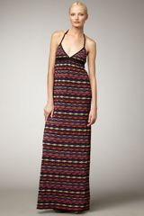 M Missoni Knit Maxi Dress - Lyst