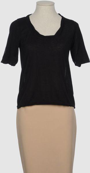 Siyu Short Sleeve Jumper in Black - Lyst