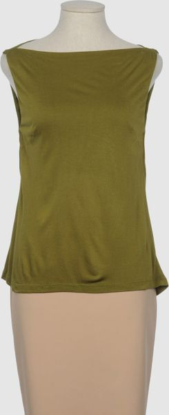 Siyu Sleeveless Tshirt in Green (grey) - Lyst