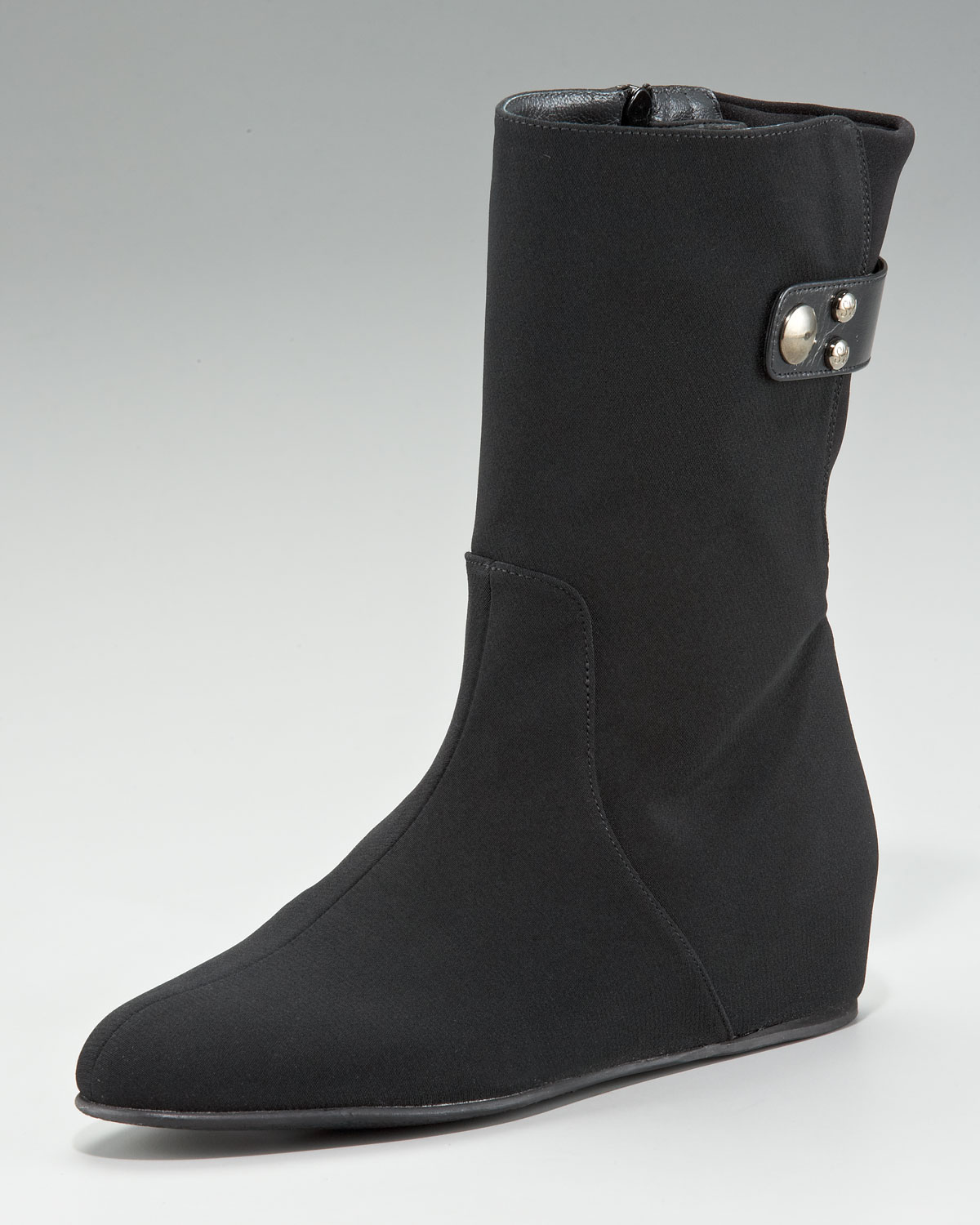 stuart weitzman gortex flat boot in black lyst