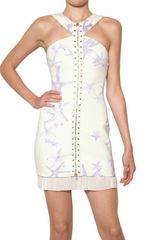Versace Starfish Studded 3d Jersey Dress