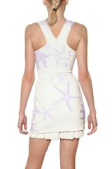 Versace Starfish Studded 3d Jersey Dress in White - Lyst