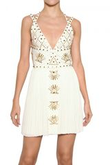 Versace Studded 3d Jersey Dress
