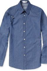 Alexander Mcqueen Harness Denim Shirt in Blue for Men (denim) - Lyst
