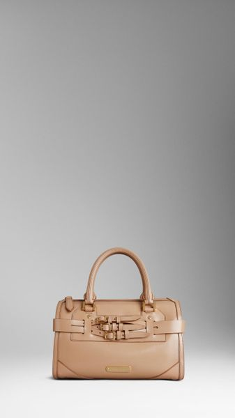 Burberry Medium Bridle Leather Bowling Bag in Brown (trench) - Lyst