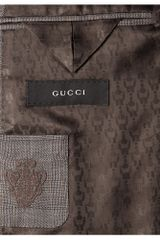 Gucci Marseille Slimfit Wool Suit in Gray for Men (brown) - Lyst