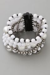Juicy Couture Pearl & Resin Multi Strand Bracelet - Lyst