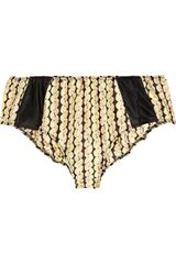 Marni Printed Silk And Cotton-Blend Briefs - Lyst