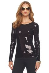 Michael by Michael Kors Sequined Top - Lyst
