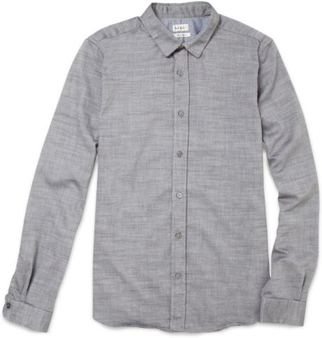 Paul Smith Cotton Chambray Oxford Shirt in Blue for Men (chambray) - Lyst