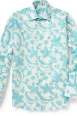 Richard James Flower Print Cotton Shirt - Lyst