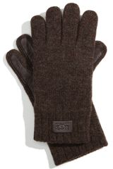 Ugg Leather Palm Lambswool Gloves - Lyst