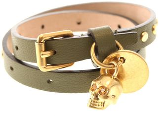 Alexander McQueen Leather Wrap Bracelet - Lyst