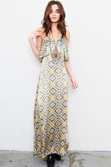 Blu Moon The Summer Lovin Maxi Dress in Yellow (mustard aztec) - Lyst