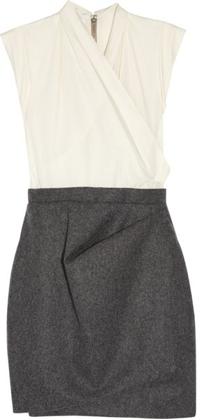 Carven Cotton-Blend And Wool Dress - Lyst