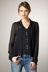Elizabeth And James Jamie Silk Blouse - Lyst
