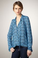 Elizabeth And James Jamie Mod-Print Blouse - Lyst