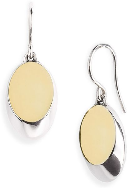 Elizabeth And James Eclipse Oval Drop Earrings in Gold (silver/ gold) - Lyst
