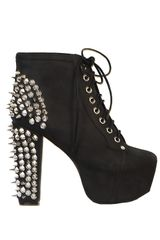 Jeffrey Campbell Lita Spike Black - Lyst