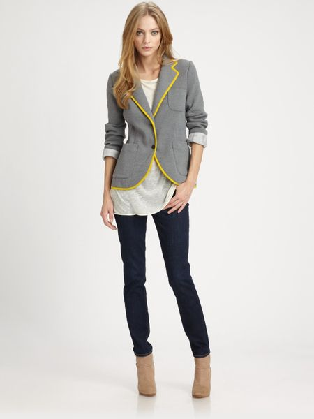 Rag & Bone Bromley Blazer in Gray (ash) - Lyst
