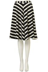 Topshop Stripe Full Circle Skirt in Black - Lyst
