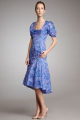 Zac Posen Floral Drop-Waist Dress - Lyst