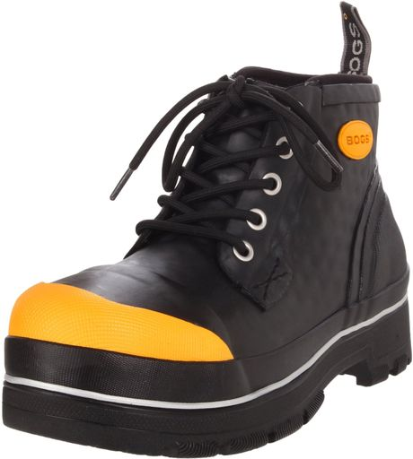 Bogs mens industrial chukka waterproof work boot in black for Bogs classic mid le jardin