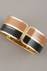 Fendi Two-tone Bangle - Lyst