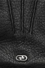 Gucci Classic Cashmerelined Leather Gloves in Black for Men - Lyst
