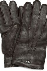 Gucci Classic Cashmere-lined Leather Gloves - Lyst