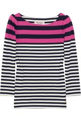 Juicy Couture Striped Cotton-jersey Top - Lyst